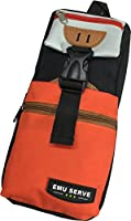 EMU SERVE カラフルな ペンケース 大容量なので余裕の収納力 学生 筆箱 男女兼用 ウエスト ポーチ バッグ にもなる オレンジ
