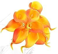 FiveSeasonStuff 10本 造花 オランダカイウ 生花みたい リアルな手触り お祝い 飾り 生け花 結婚式 枯れない 多色選択