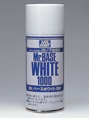 【 Mr.ベースホワイト 1000 スプレー 】 180ml サーフェイサー csB518/ 下地色を強力に隠ぺいいたします! Mr.ホビー