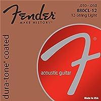 FENDER フェンダー 12弦アコースティックギター用ブロンズ弦 Dura-Tone 880CL-12 80/20 Coated 12-String .010-.050