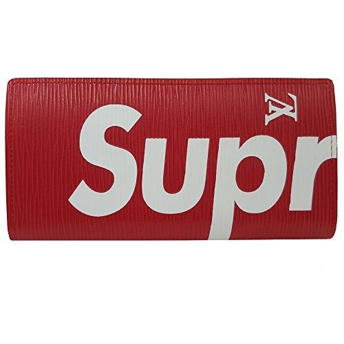 [SUPREME&LV] シュプリーム&ルイヴィトン 財布 M64201 レディース/メンズ長財布 ブラック /レッド [並行輸入品] (レッド)