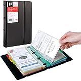 名刺入れ、名刺ホルダー、ポケット交換タイプの名刺帳 - 含む: ラベルステッカー and カラフルな分類紙 (30枚 1…