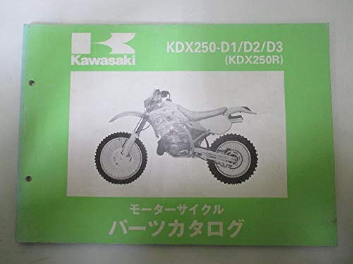 とげ期限切れ偏心中古 カワサキ 正規 バイク 整備書 KDX250R パーツリスト 正規 パーツカタログ 整備書