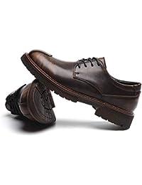 [Gladsome] エンジニアシューズ 男女兼用 ワークブーツ ローカット 革靴 レースアップ ショットブーツ ビジネスシューズ カジュアルシューズ 22.5cm-28.0cm