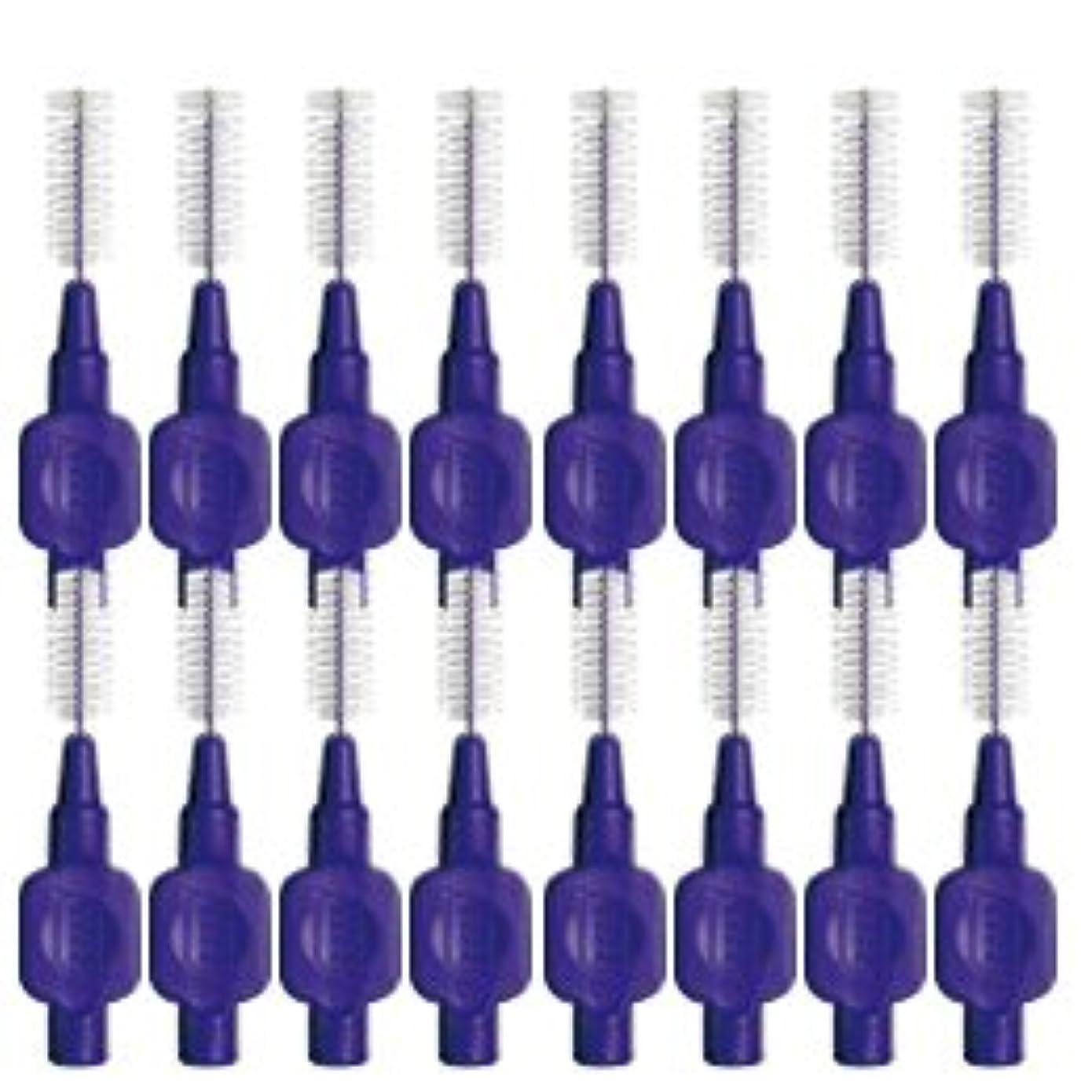 鑑定ピービッシュ振るテペ(TePe) 歯間ブラシ 8本入 × 2個 パープル(1.1mm)