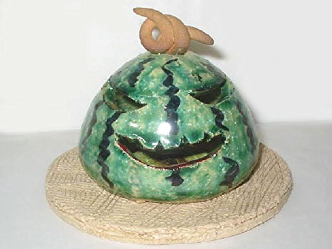 満たす祭りルビー人形師の手造り 香炉 香立て/濱田ひろ子 スイカ香立て/夏のインテリア