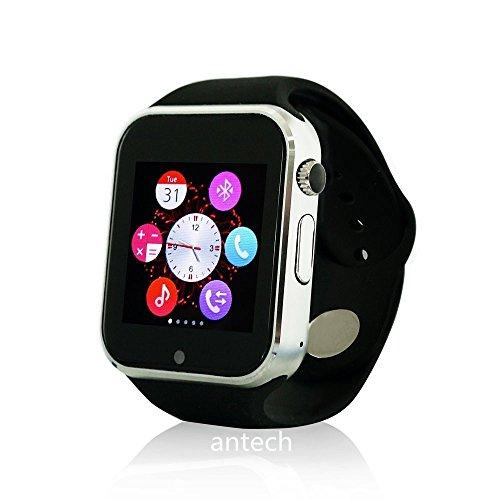 Antech A1 スマートウォッチ Bluetooth搭載 多機能腕時計 スマートデジタル腕時計 ...