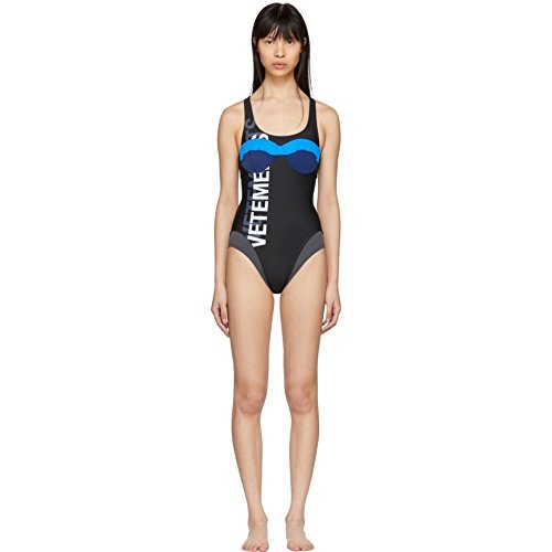 (ヴェトモン) Vetements レディース 水着・ビーチウェア ワンピース Black Double Logo Swimsuit [並行輸入品]