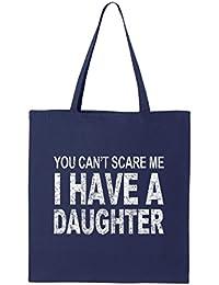できないshop4ever Scare Me I Have A DaughterトートバッグFunny再利用可能なショッピングバッグ6オンスコットンキャンバス 6 oz ブルー S4E_1215_ScareDghtr_TB...