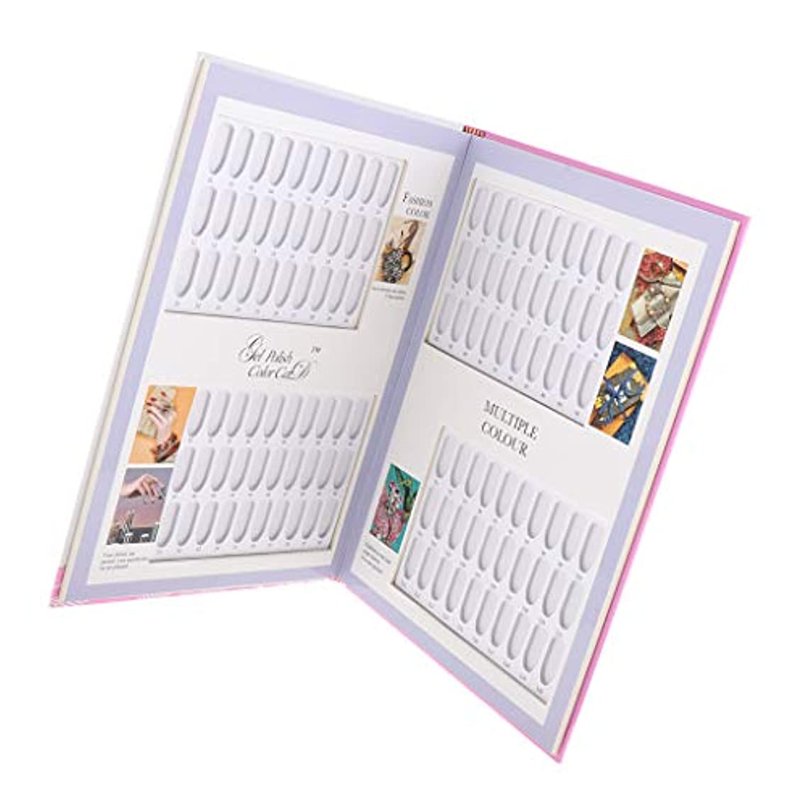 パスかまど鼓舞するネイルカラーチャート ブック ネイルマニキュア カラー色見本 ネイルサンプル帳 色見本帳 ネイルサロン 全3種 - 05