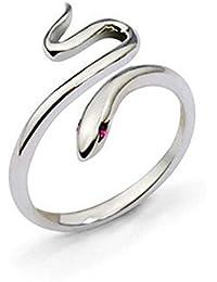 GODTOON新品 ペアリング レディース アクセサリー ジュエリー 蛇リング テール指輪 キラキラ 結婚 婚約 誕生日 クリスマス バレンタインデー プレゼント サプライズ 調整可