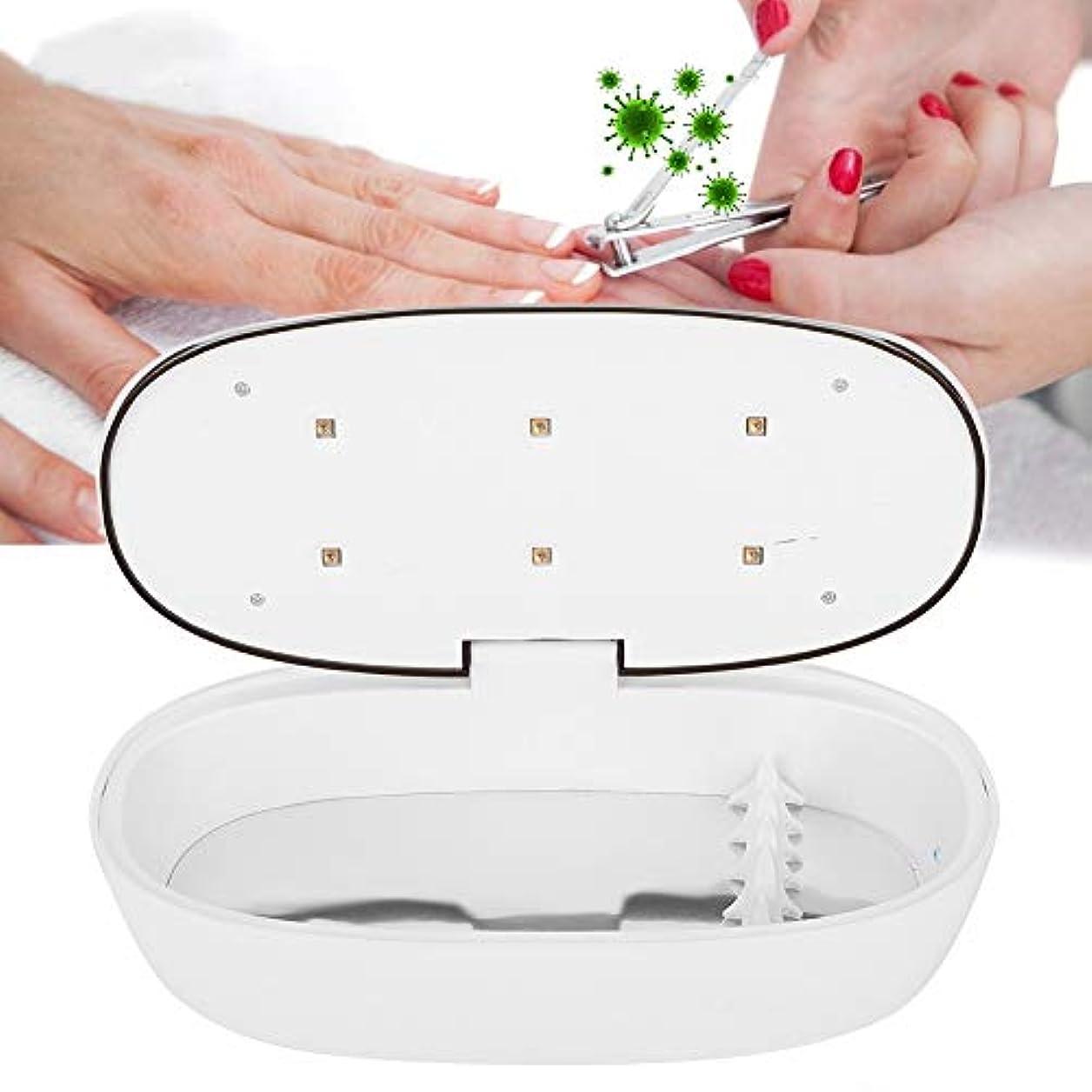 インテリジェント消毒ボックスネイルツールメイクブラシ滅菌器紫外線消毒ボックス高効率消毒ツール(6LED-02)