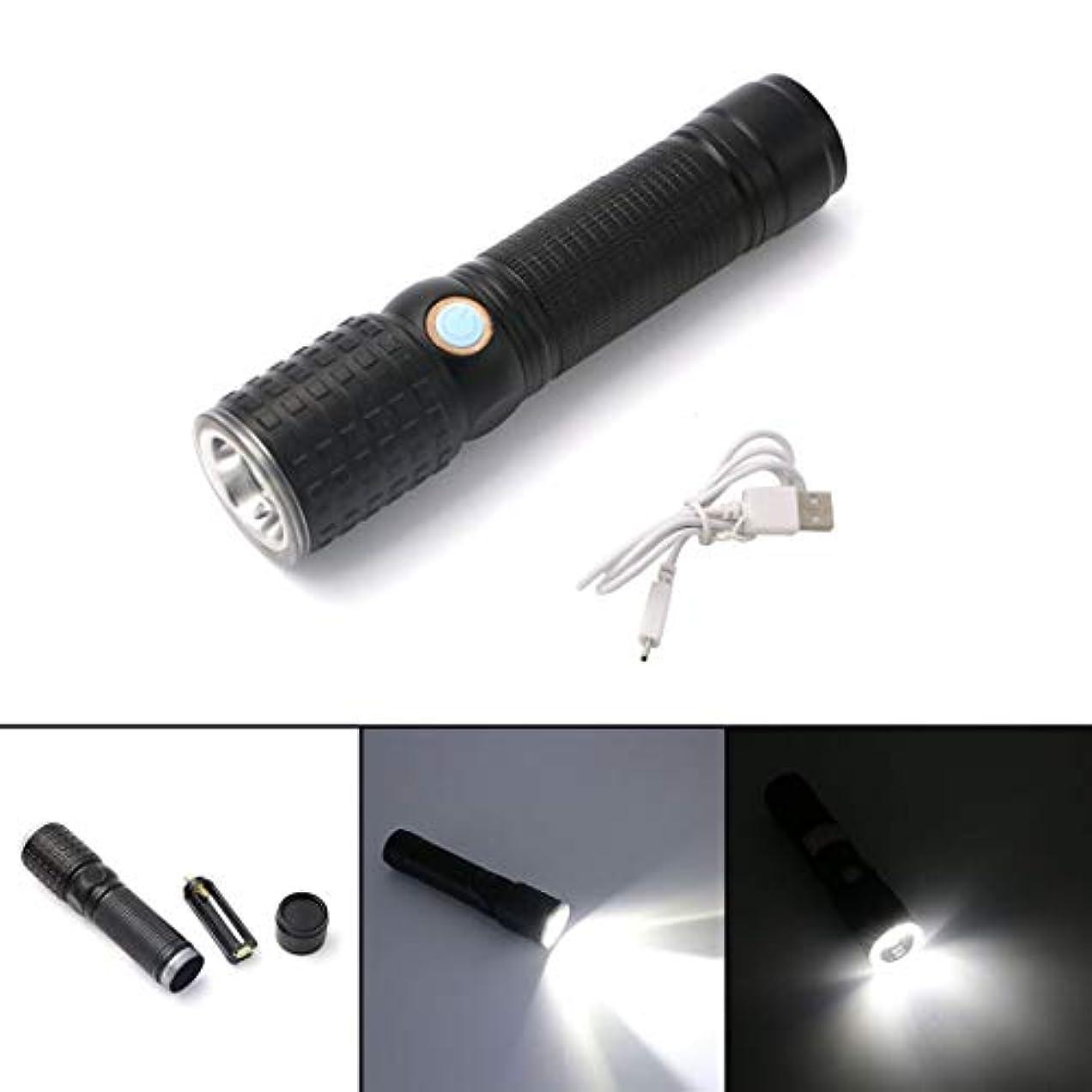 刻む料理修羅場ノウ建材貿易 LEDの回転懐中電灯屋外照明USB充電キャンプライト毎日の使用に適した (色 : 黒)