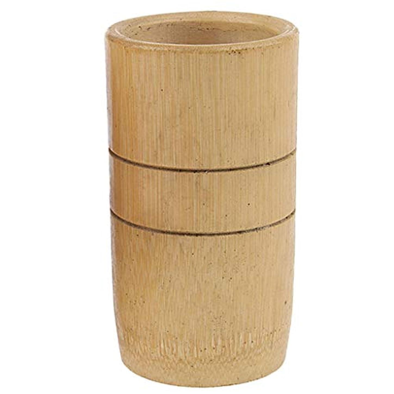 受ける極小かごマッサージ吸い玉 カッピング マッサージカップ 天然竹製 ユニセックス 2個入