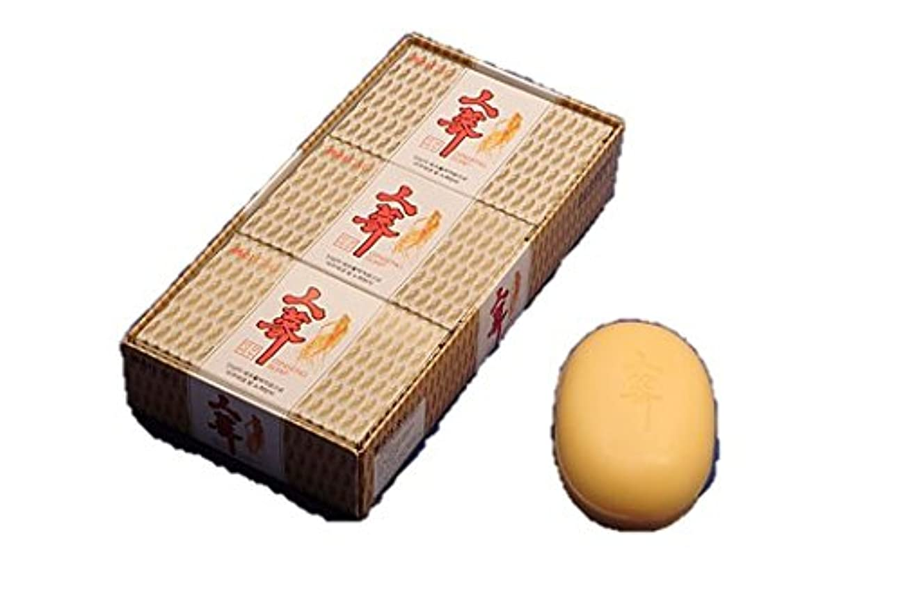 ギネスなに血色の良い(韓国ブランド) 韓国高麗人参石鹸(5個セット)