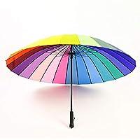 HappyGo Auto Open Super Wind-Proof Pole Straight Beach Umbrella with 16 Ribs