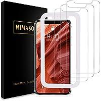 【改善版】【ガイド枠付き】【3枚セット】 Nimaso iPhone XR 用 強化ガラス液晶保護フィルム 硬度9H/高透過率/貼り付け簡単 ( 6.1 インチ iPhoneXR 用 保護フィルム )