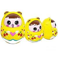 wanraneキュートキッズおもちゃRoly - Poly Cute幼児Nod Cartoon Rattleタンブラー教育玩具(イエロー)