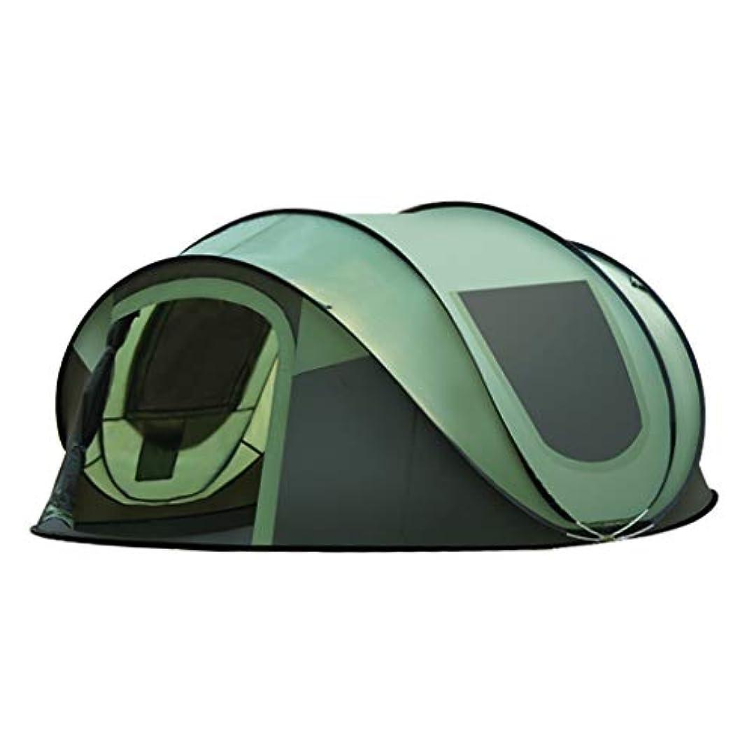 領事館放牧する神聖テント テント、屋外3-4人自動スピードオープン折りたたみテント野生のキャンプテント機器、サイズ:280 * 200 * 120 cm、グリーン