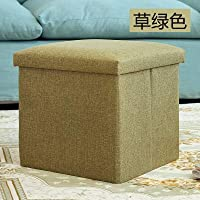 収納ベンチのベンチは人のソファに座って布を折り畳むことができます。 (草色) [並行輸入品]