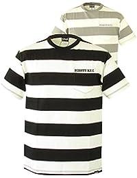 (ショット) Schott ショット ・Tシャツ Schottの太目のボーダー刺繍ポケット付きTシャツ