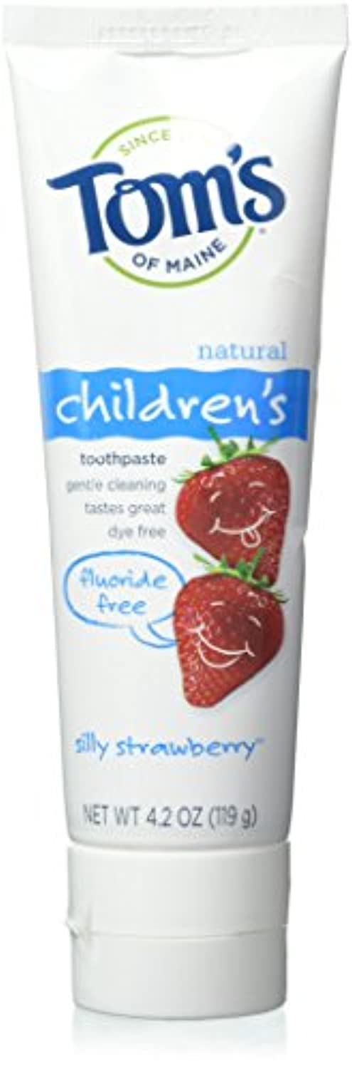 海外直送品Tom's Of Maine Children's Natural Toothpaste Fluoride Free Silly Strawberry, 4.2 oz (Pack of 6)