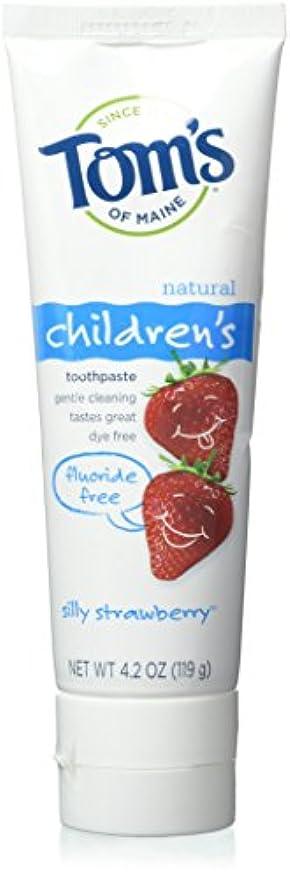 光電防水読む海外直送品Tom's Of Maine Children's Natural Toothpaste Fluoride Free Silly Strawberry, 4.2 oz (Pack of 6)