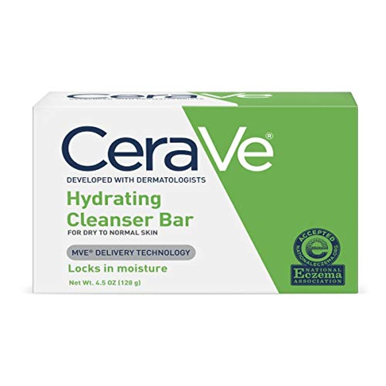 振る舞い消毒剤湿気の多いCeraVe ハイドレイティングクレンジングバー4.5オズ(12パック) 12のパック