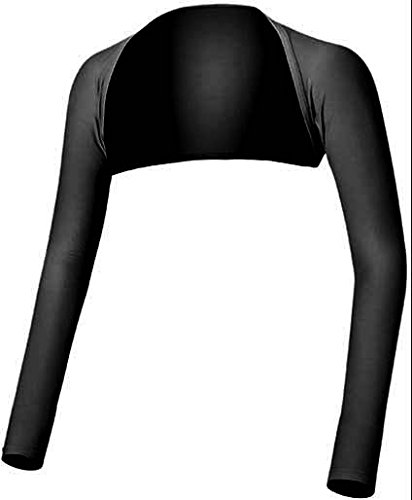 メガゴルフ 夏の雪 ずれない クールアームカバー UPF50+ ショールアームカバー UV-F506 (ブラック, M)