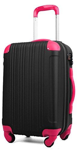 スーツケース (機内持込サイズ(1~3泊/33(拡張時40)L), ブラック/マゼンタ)