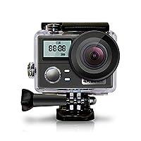 ダイビングカメラ、アウトドアスポーツカメラ、WiFi機能1080P、防水30メートル、2インチ+ 0.96インチLCDスクリーン、170度広角充電式900MAHバッテリーおよび取り付けキット (黒)