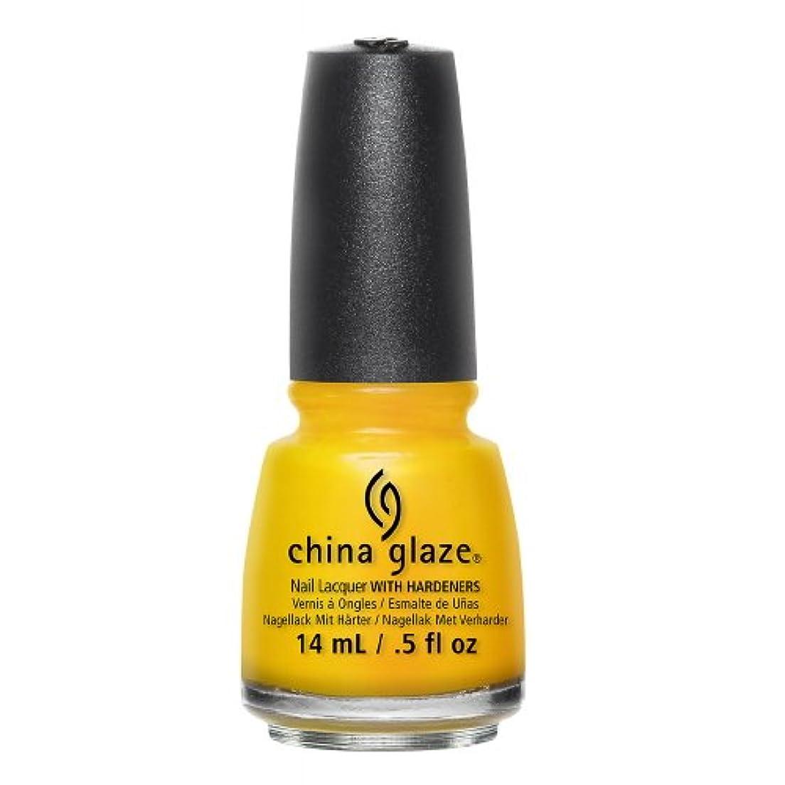トラフ地下室全く(6 Pack) CHINA GLAZE Nail Lacquer - Road Trip - Suns Up Top Down (並行輸入品)