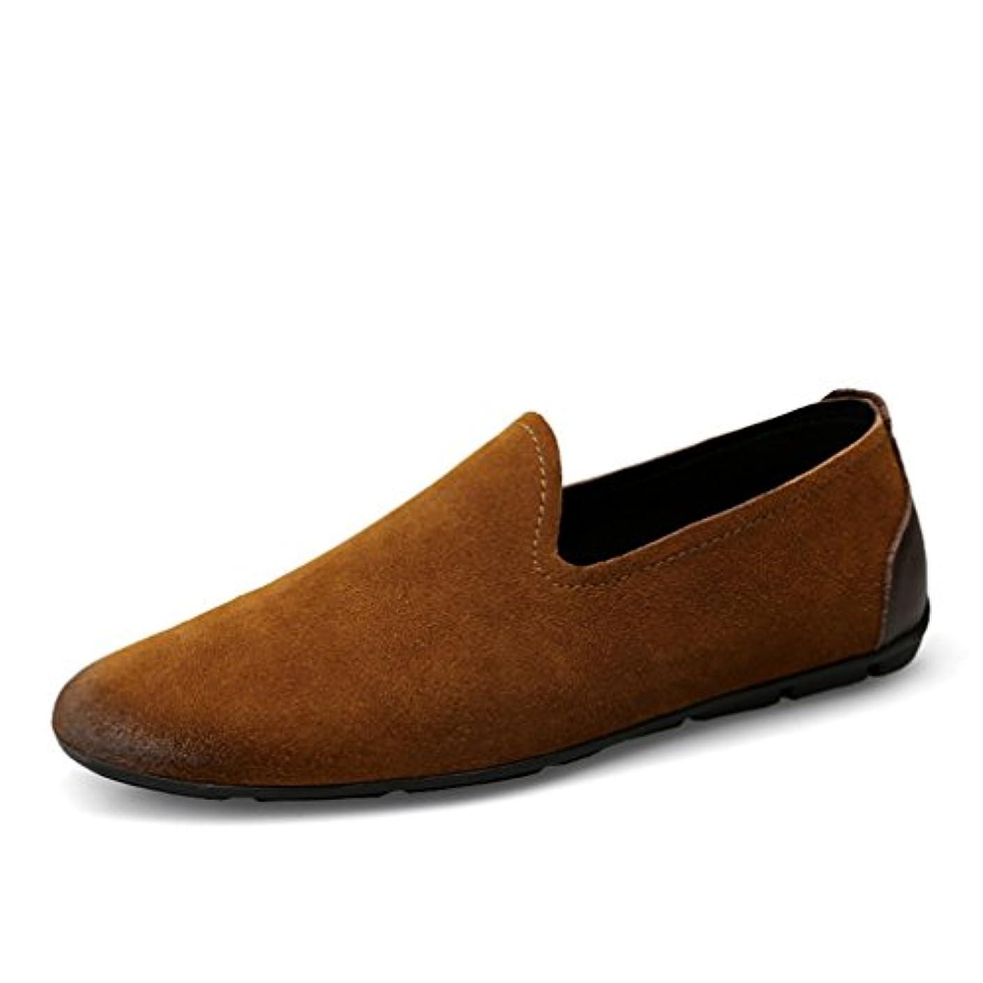 空洞レーニン主義ヶ月目[OM]メンズ スリッポン ドライビングシューズ ローファー モカシンシューズ ローカット ビジネス カジュアルシューズ クラシック スウェード 軽量 スエード レザー 運転 職場用 革靴