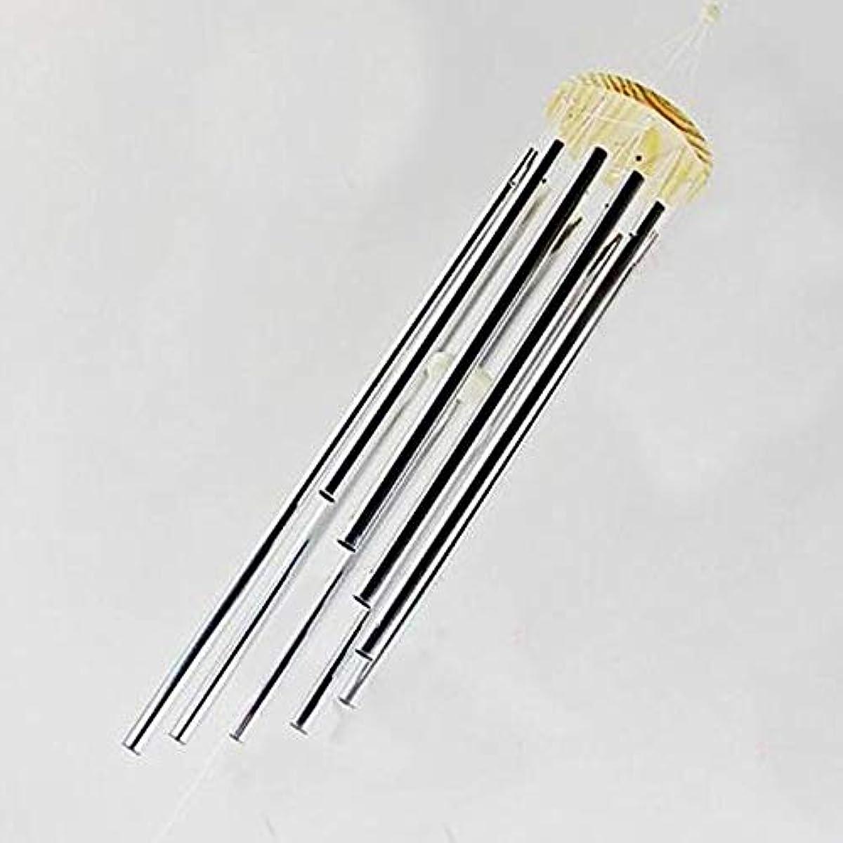 苦情文句ランダム木製Chengjinxiang 風チャイム、メタル風チャイム9本のチューブ、シルバー、90CMについて全身をハンギング,クリエイティブギフト