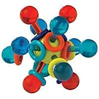 Manhattan Toy Transparent Atom Teether and Rattle Baby Toy [並行輸入品]