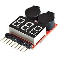 OUYOU リポバッテリーアラーム 簡易電圧チェッカー リポバッテリー アラーム チェッカーとアラームを一体化 1S-8S Lipo / LiFe / Li-ion / LiMn 対応