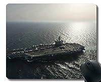 ステッチエッジ付きマウスパッド、軍用USS Carl Vinson(CVN 70)軍艦滑り止めラバーゲームマウスパッド