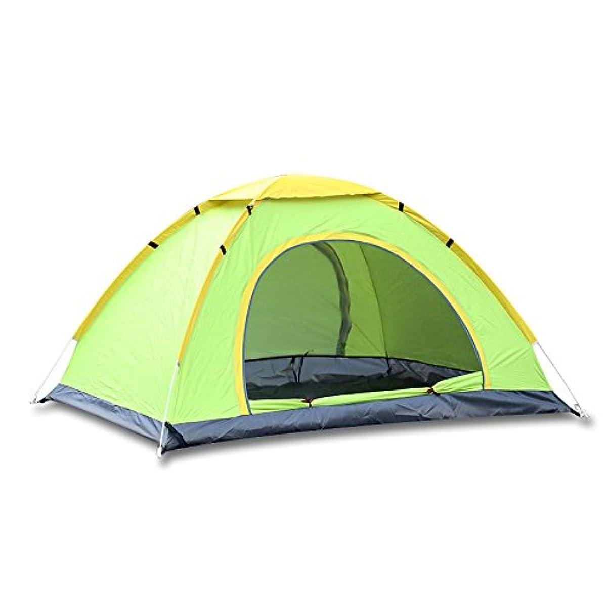 懇願する北西地区テント屋外3-4 人自動ダブルドア 手投げ防雨日焼け止めテントを開くために2秒