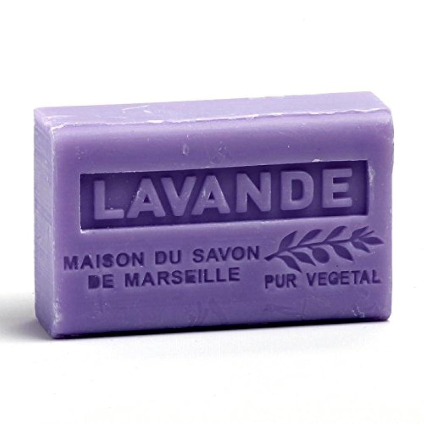 キャプテンブライ仮定強化するSavon de Marseille Soap Lavender Shea Butter 125g