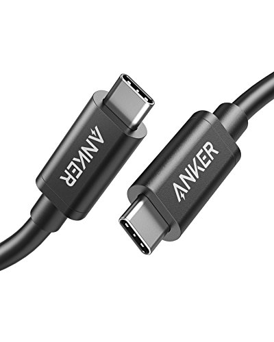 Anker USB-C & USB-C Thunderbolt 3 ケーブル (50cm) 【PD対応 超高速 40Gbps 100W出力 USB2.0 / 3.0 / 3.1 対応】