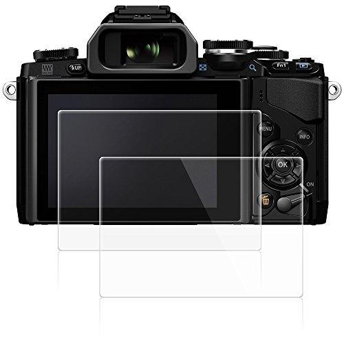 AFUNTA Olympus E-M10 Mark II カメラ用 液晶保護フィルムMarkII 用 スクリーン保護シート DSLR デジカメ用 液晶フィルム 9H高硬度 低反射 極薄 防塵 2枚入り