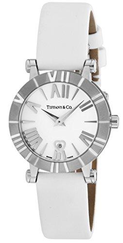 [ティファニー]Tiffany&Co. 腕時計 Atlas ホワイト文字盤  サテンベルト Z130...