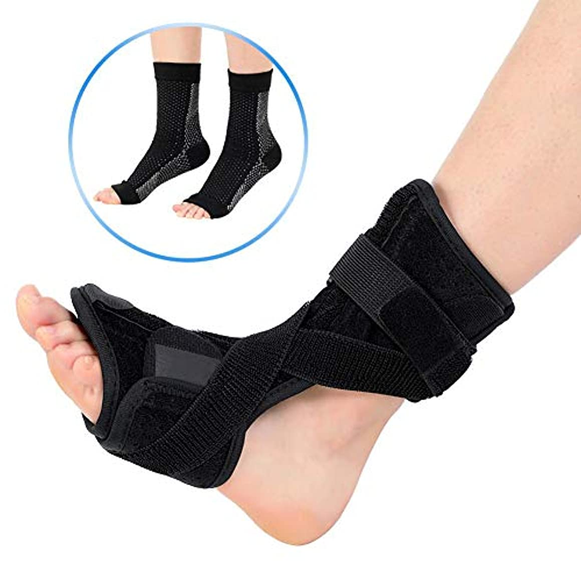 足首装具、睡眠のための足底背部夜間副木足ドロップ