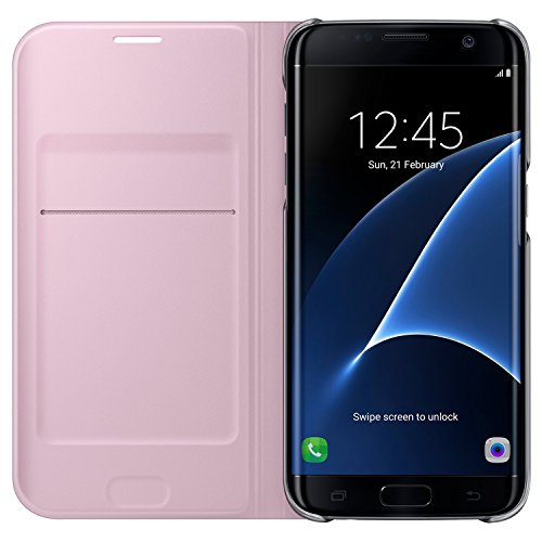 Galaxy S7 edge用 Flip Wallet ピンク 【Galaxy純正 国内正規品】 EF-WG935PPEGJP