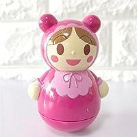 KEANER 新生児 乳児 ロールポリ おもちゃ アニメ 子供 女の子 タンブラー サンドベル ボール サウンド 教育玩具 (ピンク)