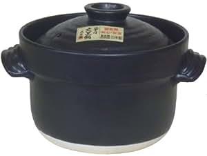 炊飯 ごはん土鍋 3合炊き(二重蓋) 大黒 万古焼
