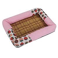 夏の犬小犬の中型の犬の猫の巣クールなクールな巣テディ犬の夏の犬の家ペットの巣 (Size : M)
