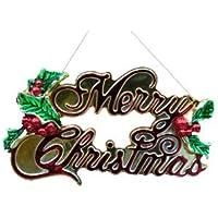 人形本舗 クリスマスツリー オーナメント 飾り ライト MCプレート飾り付 幅約10cm
