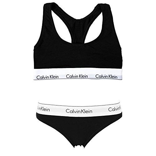 (カルバンクライン) Calvin Klein レディース ブラ&ショーツ 上下セット modern cotton [並行輸入品]