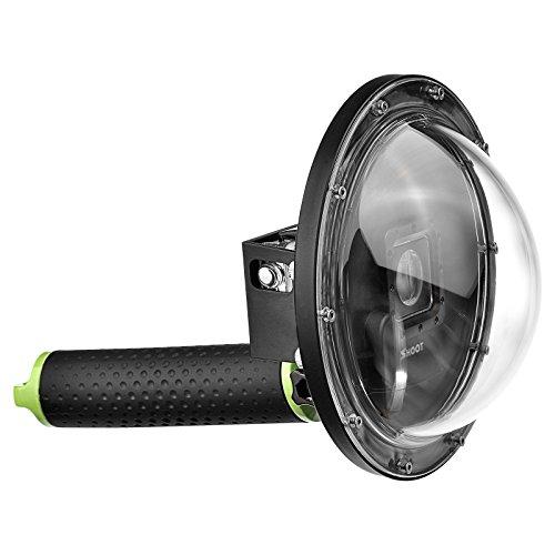"[해외]SHOOT 돔 포트 for 경계 LCD 부착 GoPro Hero4 | 3 + 30m 방수 6 ""다이빙 마스크 수중 ?影 Dome Port 12 장 김서림 방지 시트 세트/SHOOT dome port for LCD with GoPro Hero 4|3 + 30 m waterproof 6 ""diving mask underwater shadow Dom..."